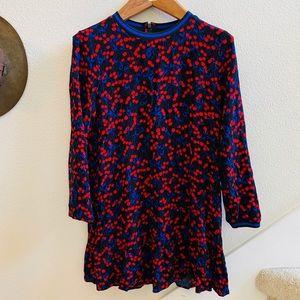 POP SUGAR cherry print dress flounce skirt M